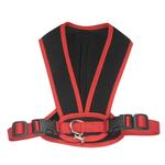 View Image 1 of Cloak & Dawggie Snap-N-Go Dog Harness - Black Mesh with Red Trim