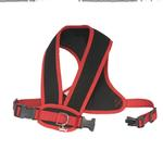 View Image 2 of Cloak & Dawggie Snap-N-Go Dog Harness - Black Mesh with Red Trim