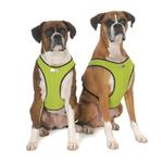 View Image 1 of Cloak & Dawggie Snap-N-Go Dog Harness - Citron Green with Black Fleece Trim