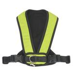 View Image 2 of Cloak & Dawggie Snap-N-Go Dog Harness - Citron Green with Black Fleece Trim