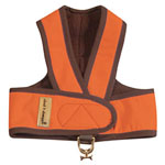 View Image 1 of Cloak & Dawggie Step-N-Go Fleece Lined Harness - Orange