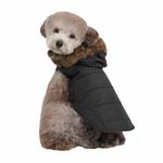 View Image 2 of Cody Hood Dog Vest by Puppia - Black