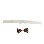 View Image 2 of Colin Polka Dot Dog Shirt Collar & Bow Tie