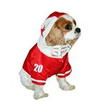 View Image 2 of Collegiate Football Player Dog Costume - Red
