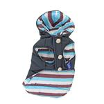 View Image 1 of Color Stripes Parka by Dogo - Navy