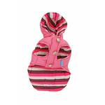 View Image 1 of Color Stripes Parka by Dogo - Pink