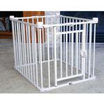 View Image 3 of Carlson 3 in 1 Combi Crate/Freestanding Gate/Pet Pen - Chocolate