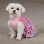 View Image 4 of Cotton Candy Dog Dress - Pink