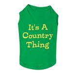 View Image 1 of Country Thing Dog Tank by Zack & Zoey - Green