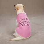 View Image 1 of Country Thing Dog Tank by Zack & Zoey - Pink