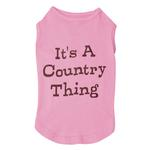 View Image 2 of Country Thing Dog Tank by Zack & Zoey - Pink