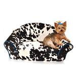 View Image 1 of Cowprint Sleeper Sofa Dog Bed