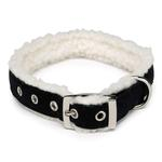 View Image 1 of Cozy Sherpa Dog Collars - Black