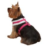 View Image 3 of Cozy Sherpa Dog Harness by East Side Collection - Raspberry