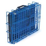 View Image 2 of Crate Appeal Collapsible Wire Dog Crate - Blue Splash