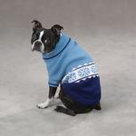 View Image 1 of Cross Country Dog Sweater - Blue