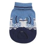 View Image 2 of Cross Country Dog Sweater - Blue
