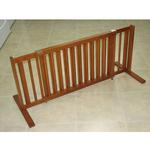 View Image 1 of Crown All Wood 21inch Height Pet Gate - Chestnut Brown