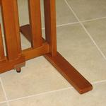 View Image 4 of Crown All Wood 21inch Height Pet Gate - Chestnut Brown