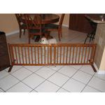 View Image 2 of Crown All Wood 21inch Height Pet Gate - Chestnut Brown
