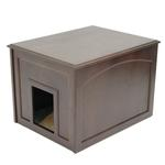 View Image 1 of Crown Cat Litter Cabinet - Espresso