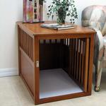 View Image 3 of Crown Pet Wood Dog Crate - Chestnut Brown