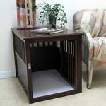 View Image 3 of Crown Pet Wood Dog Crate - Espresso