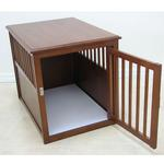 View Image 2 of Crown Pet Wood Dog Crate - Mahogany
