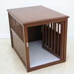 View Image 3 of Crown Pet Wood Dog Crate - Mahogany