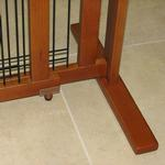 View Image 4 of Crown Wood-Wire 21inch Height Pet Gate - Chestnut Brown