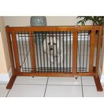 View Image 2 of Crown Wood-Wire 21inch Height Pet Gate - Chestnut Brown