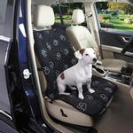 View Image 1 of Pawprint Single Car Seat Cover - Black
