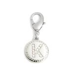 Crystal A to Z Initial Pendant by Pinkaholic - Clear