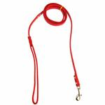 View Image 2 of Crystal Bone Leather Dog Leash - Red