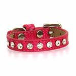 View Image 3 of Crystal Ice Cream Dog Collar - Pink