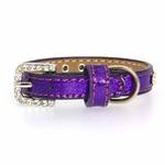 View Image 2 of Crystal Ice Cream Dog Collar - Purple