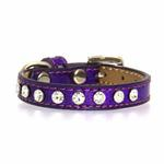 View Image 3 of Crystal Ice Cream Dog Collar - Purple