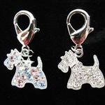 View Image 1 of Crystal Scottie Dog Collar Charm
