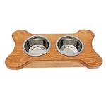 View Image 1 of Dainty Bone Doggie Diner - Honey Pine