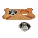View Image 2 of Dainty Bone Doggie Diner - Honey Pine
