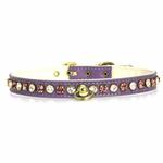 View Image 3 of Deluxe Crystal Dog Collar - Purple