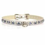 View Image 3 of Deluxe Crystal Dog Collar - White w/ Blue Crystal