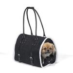 View Image 1 of Deluxe Sherpa Pet Carrier by Zack & Zoey - Black