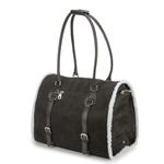 View Image 2 of Deluxe Sherpa Pet Carrier by Zack & Zoey - Black