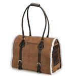 View Image 2 of Deluxe Sherpa Pet Carrier by Zack & Zoey - Chestnut Brown