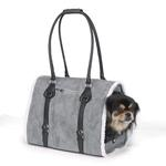 View Image 1 of Deluxe Sherpa Pet Carrier by Zack & Zoey - Gray