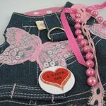 View Image 2 of Denim Butterflies Harness Vest w/ Leash