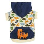 View Image 2 of Dino Dog Pullover - White