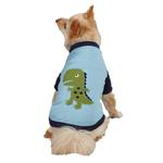 View Image 1 of Dino Dog Raglan T-Shirt - Blue