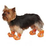 View Image 1 of Dino Dog Slippers - Orange